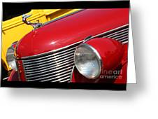1937 Desoto Front-7262 Greeting Card
