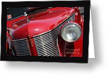 1937 Desoto Front Grill And Head Light 7285 Greeting Card