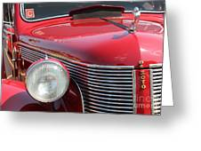 1937 Desoto Front Grill And Head Light-7289 Greeting Card