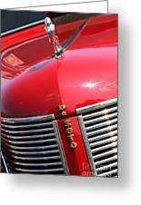 1937 Desoto Front Grill Greeting Card