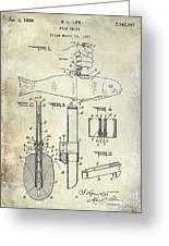 1937 Fishing Knife Patent Greeting Card