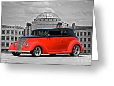 1937 Ford Convertible Sedan Greeting Card