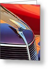 1937 Ford Hood Ornament 2 Greeting Card