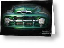 1937 Ford Pick Up Truck Front End Greeting Card