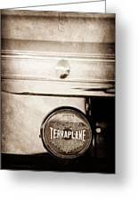 1937 Hudson Terraplane Pickup Truck Taillight Emblem Greeting Card