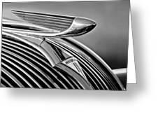 1937 Hudson Terraplane Sedan Hood Ornament 3 Greeting Card