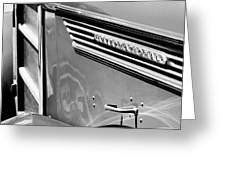 1937 International D-2 Station Wagon Side Emblem Greeting Card