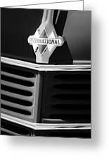 1937 International D2 Pickup Truck Grille Emblem Greeting Card