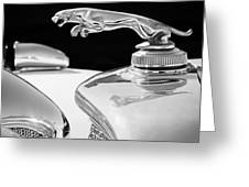 1937 Jaguar Prototype Hood Ornament -386bw55 Greeting Card