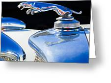 1937 Jaguar Prototype Hood Ornament -386c55 Greeting Card