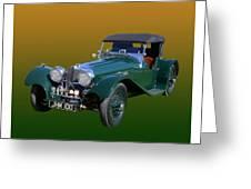 1937 Jaguar S S Onehundred  Greeting Card