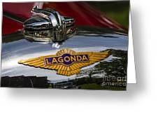 1937 Lagonda Greeting Card