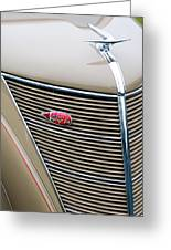 1937 Lincoln-zephyr Coupe Sedan Grille Emblem - Hood Ornament Greeting Card