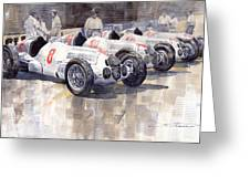 1937 Monaco Gp Team Mercedes Benz W125 Greeting Card
