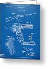 1937 Police Remington Model 8 Magazine Patent Artwork - Blueprin Greeting Card