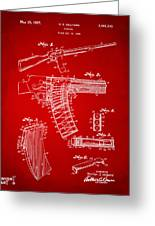 1937 Police Remington Model 8 Magazine Patent Artwork - Red Greeting Card