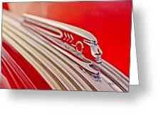 1937 Pontiac Chief Custom Hood Ornament Greeting Card