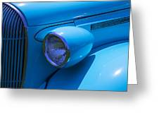 1938 Blue Plymouth Coupe Greeting Card