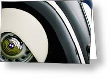 1938 Bmw 327 - 8 Cabriolet Rear Wheel Emblem -2668c Greeting Card
