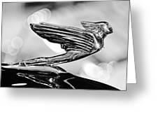 1938 Cadillacv-16 Hood Ornament Greeting Card