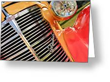 1938 Chevrolet Coupe Grille Emblems Greeting Card