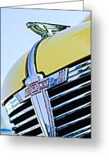 1938 Chevrolet Coupe Hood Ornament -0216c Greeting Card