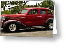 1938 Chevy 4 Door Sedan Greeting Card