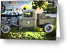 1938 Chevy Pick Up Truck Rat Rod Greeting Card