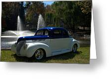1938 Ford Coupe Hot Rod Greeting Card