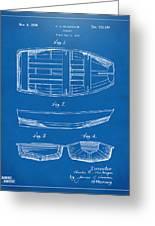 1938 Rowboat Patent Artwork - Blueprint Greeting Card
