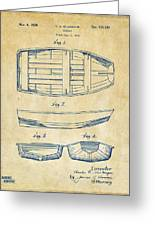 1938 Rowboat Patent Artwork - Vintage Greeting Card by Nikki Marie Smith