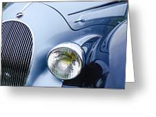1938 Talbot-lago 150c Ss Figoni And Falaschi Cabriolet Headlight - Emblem Greeting Card