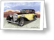 1939 Bentley Mark Four Sport Sedan Greeting Card