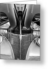 1939 Chevrolet Coupe Grille -115bw Greeting Card