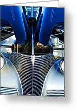 1939 Chevrolet Coupe Grille -115c Greeting Card