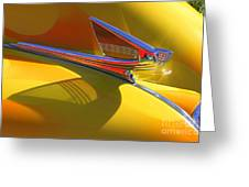 1939 Chevy Hood Ornament Greeting Card