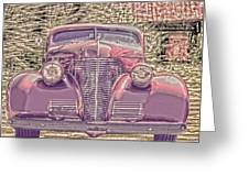 1939 Chevy Immenent Front Color Greeting Card