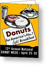 1940 Donut Poster Greeting Card