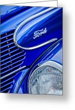 1939 Ford Woody Wagon Side Emblem Greeting Card