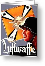 1939 German Luftwaffe Recruiting Poster - Color Greeting Card