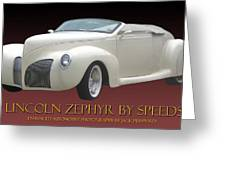 1939 Lincoln Zephyr Poster Greeting Card