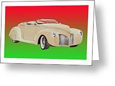 1939 Lincoln Zephyr Speedster Greeting Card by Jack Pumphrey