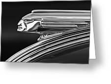 1939 Pontiac Silver Streak Hood Ornament 3 Greeting Card