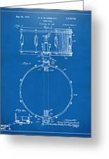 1939 Snare Drum Patent Blueprint Greeting Card