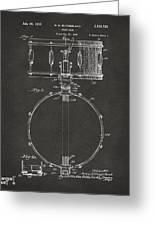 1939 Snare Drum Patent Gray Greeting Card