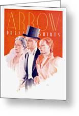 1940 - Arrow Shirts Hans Flato Advertisement - 1940 Greeting Card