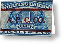 1940-1965 Internal Revenue Playing Cards Stamp Greeting Card
