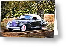 1940 Cadillac Coupe Convertible Greeting Card
