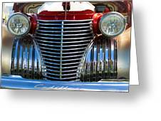 1940 Cadillac Coupe Front View Greeting Card
