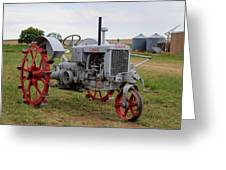 1940 Case Tractor Greeting Card